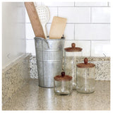 Tall Zanzibar Recycled Glass Canister - Clear
