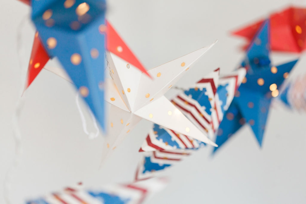 American Flag Mini Star Lantern Set