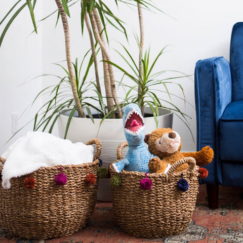 Pom Pom Nesting Basket (Local Pickup/Local Delivery Only)