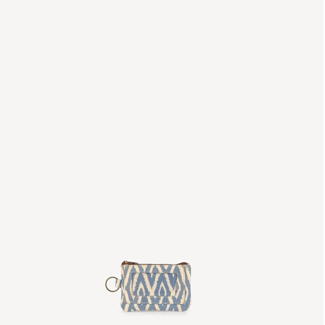 ID Pouch - Blue Ikat