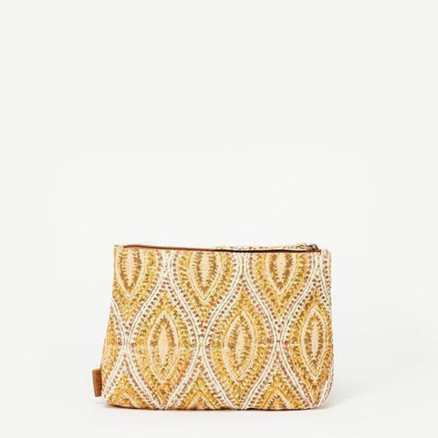 Meena Small Yellow Batik Pouch
