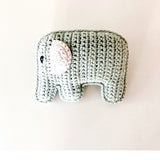 Elephant Rattle Organic Teal