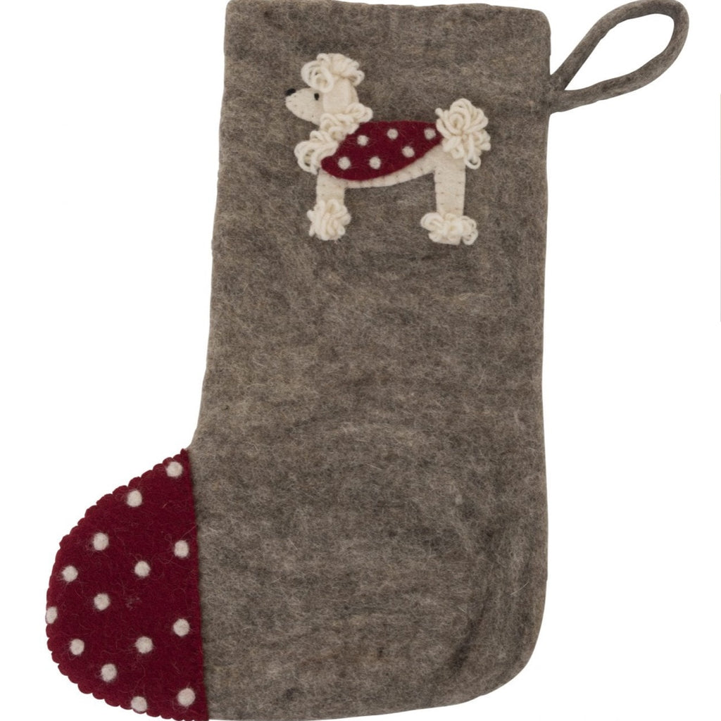 Christmas Stocking - Poodle