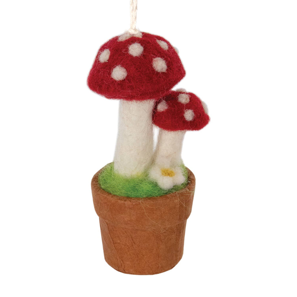 Twin Fairy Mushroom Ornament