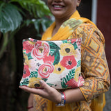 Meena Large Floral Pouch