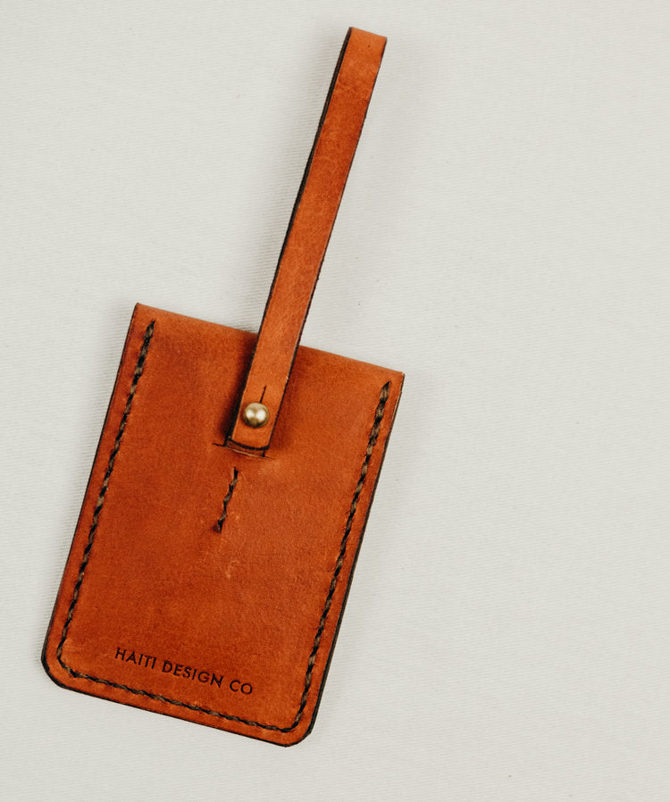 Leather Pocket Luggage Tag