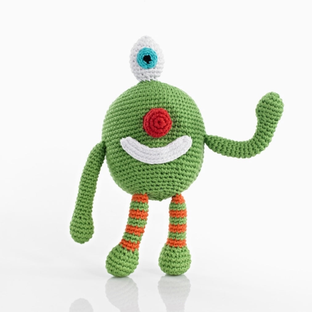 Chubby Monster Rattle - Cheeky Green
