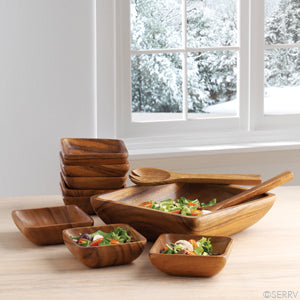 Acacia Salad Serving Bowl (Local Delivery/Pickup Only)