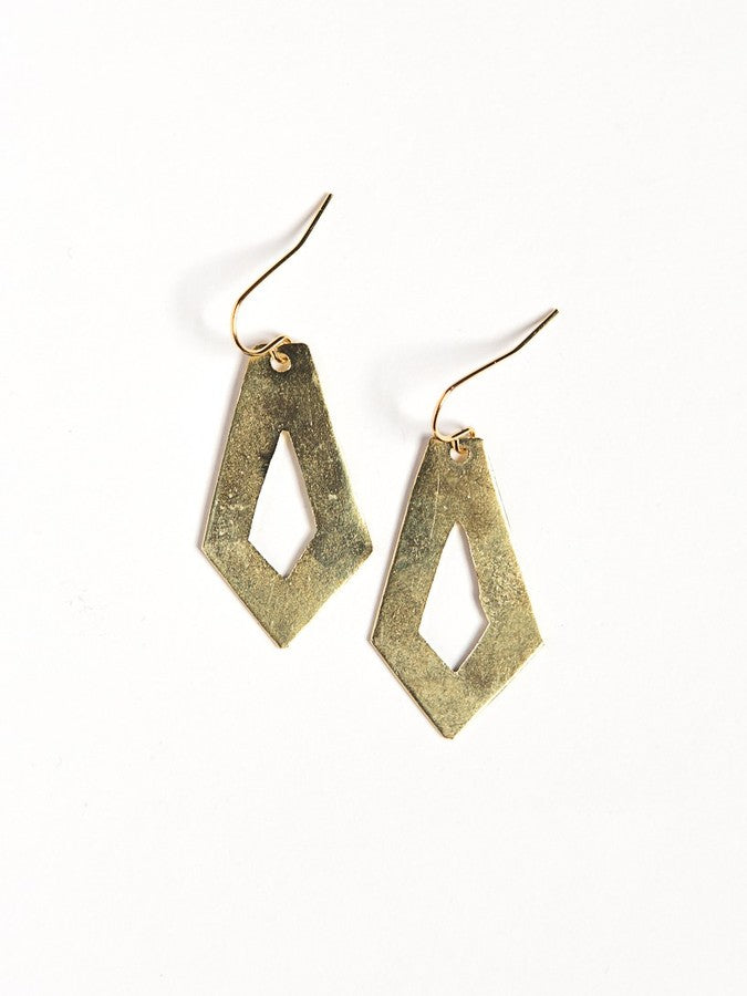 Cut out Artillery Earrings-Brass