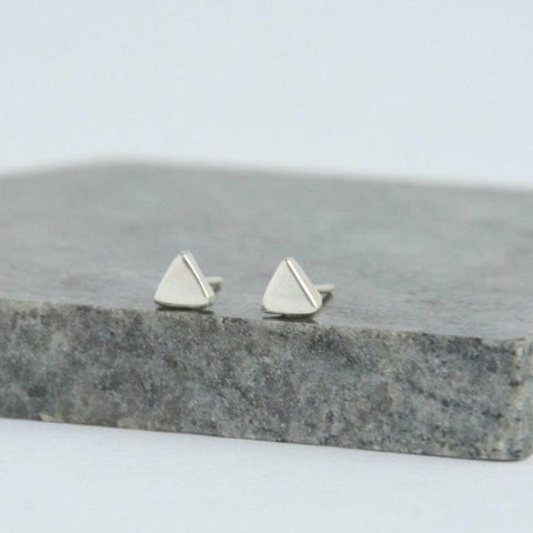 Tiny Triangle Sterling Studs