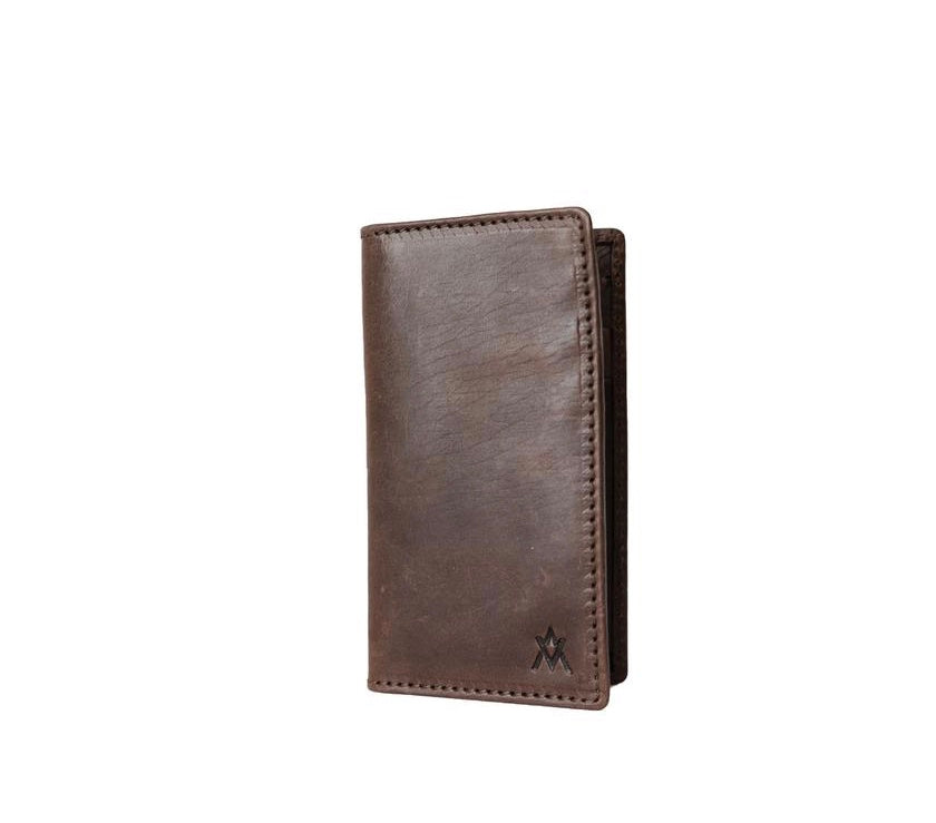 Vertical Men's Wallet - Brown