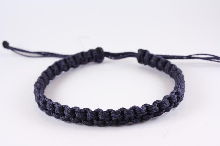 Men's Simple Macrame - Black