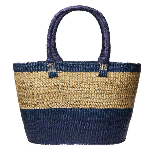 Navy Dipped Accra Basket (Local Pickup/Local Delivery Only)