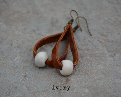 Bel Koz Loop Earrings - Ivory