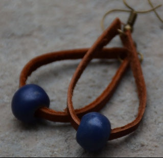 Bel Koz Loop Earrings - Indigo