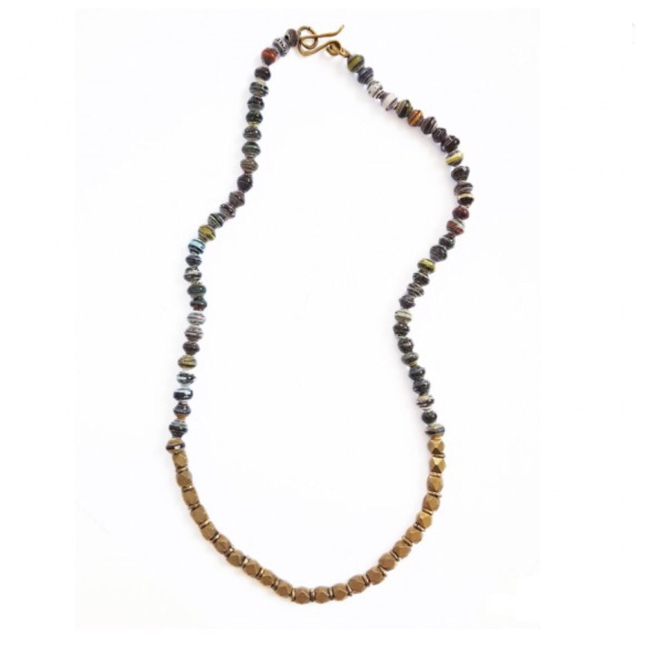Paper Bead Halifax Necklace - Dusk