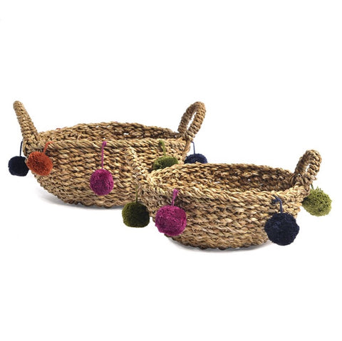 Pom Pom Nesting Baskets - Short