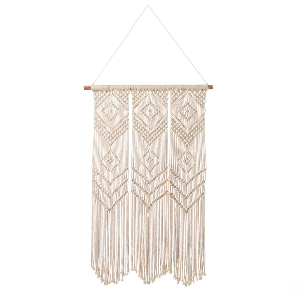 Triptych Macramé Wall Hanging (Local Pickup/Delivery Only*)