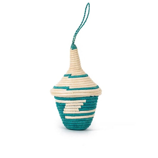 Miniature Basket Ornament - Green Tall