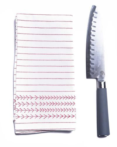 Lily Kitchen Towel - Burgundy