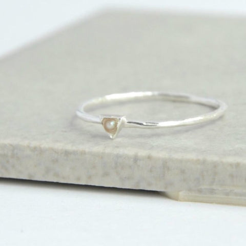 Tiny Triangle Sterling Ring