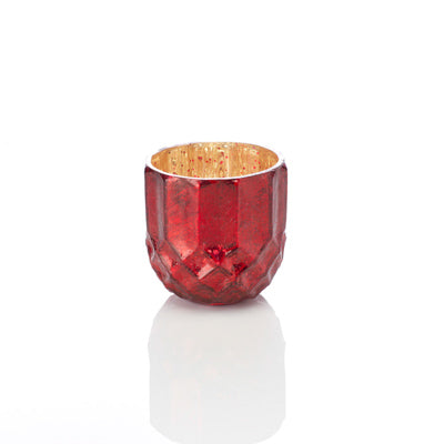 Ruby Holiday Glass Candle Holder