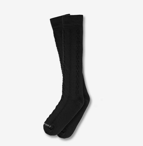 Hippy Feet Knee High Cable Knit - Black
