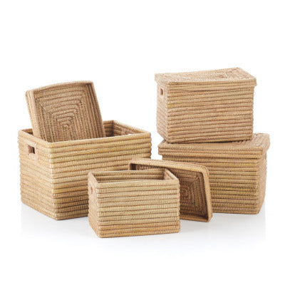 Natural Rectangle Jute Wrapped Basket (Local Pickup/Local Delivery Only*)