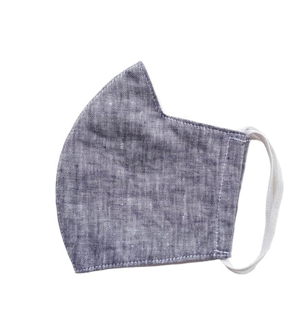 Linen Unisex Mask with filter pocket