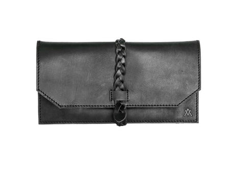 Braided Clutch - Black