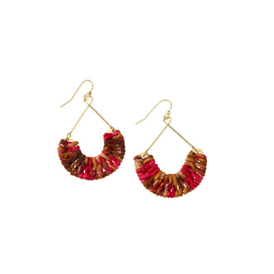Warm Mayra Twisted Sari Earrings