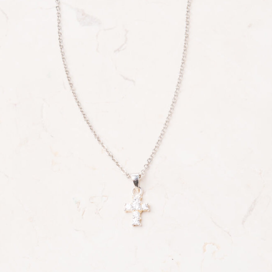 The Francie Silver Cross Necklace