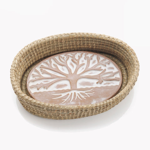 Tree of Life Bread Warmer & Basket (Local Delivery/Pickup Only)