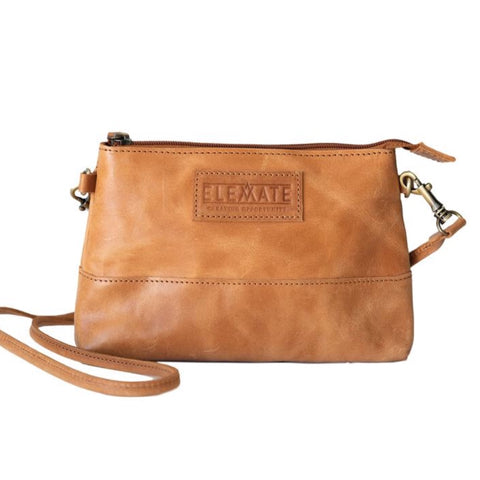 Zipper Pouch Crossbody - Camel
