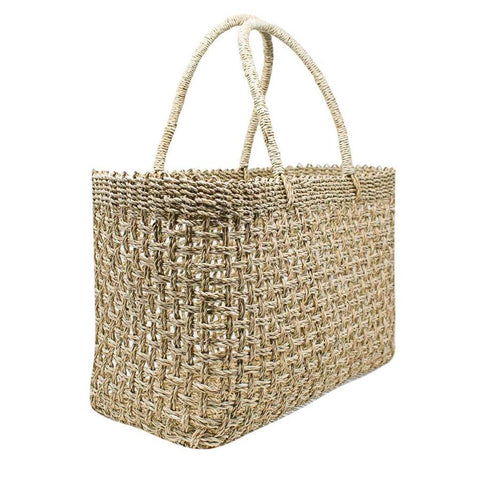 Wide Drift Net Straw Tote