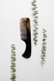 Natural Horn Comb with Pouch