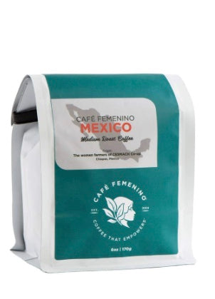 Cafe Femenino Coffee - Cafe Femenino Whole Bean Coffee -6 six-ounce bags