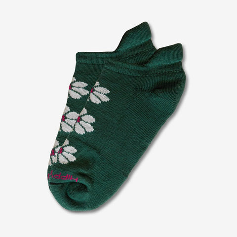 Hippy Feet Floral Ankle - Lily Teal
