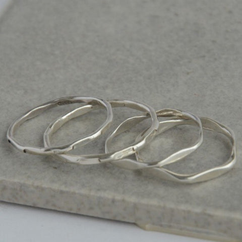 Sterling Stacking Ring - Textured