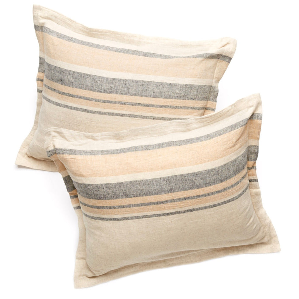 Papyrus Stripe Linen Pillow Cases Set of 2