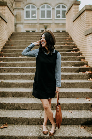 Oxford Jumper Dress - Black