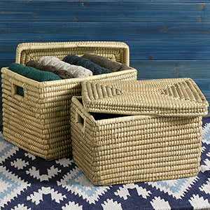 Kaisa Lidded Grass Basket (Local Pickup/Local Delivery Only*)