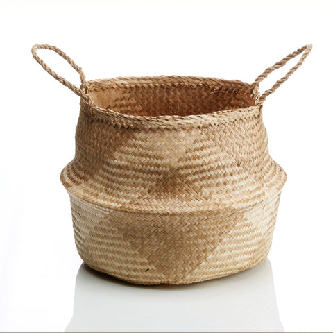 Checkered Seagrass Basket (Local Pickup/Local Delivery Only*)