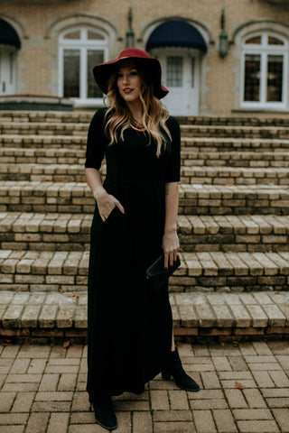 Empire Maxi Dress - Black