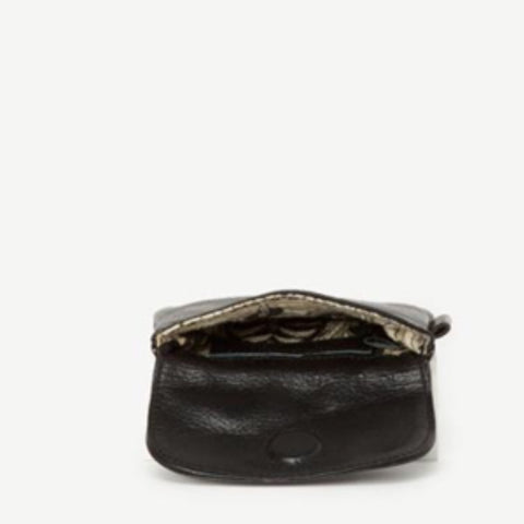 JOYN Mahi Leather Mini Wallet-Black