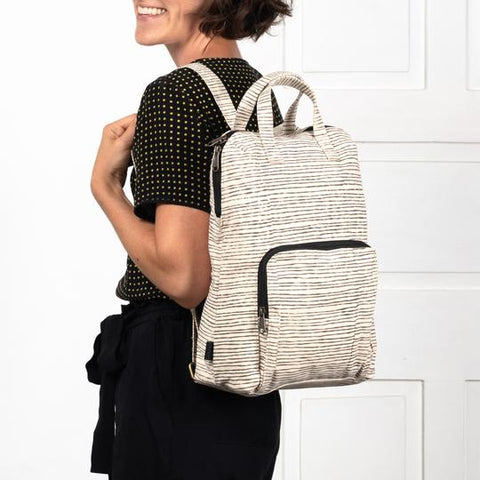 Sunena Rustic Pinstripe Backpack