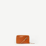 Crossbody Wallet Camel Leather - Rain Drop