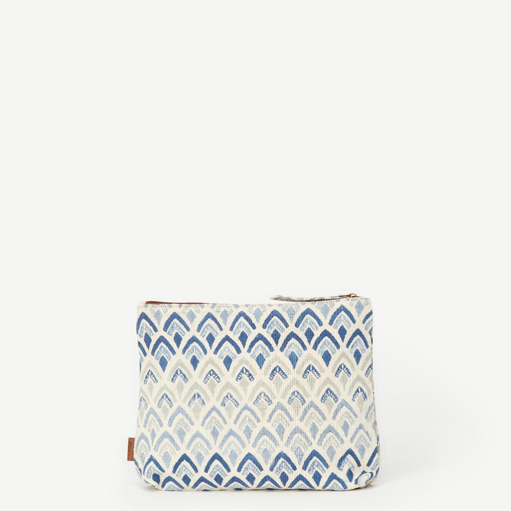 Meena Large Signature Print Pouch