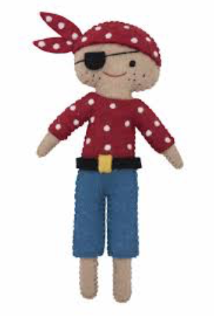 Felted Pirate Doll