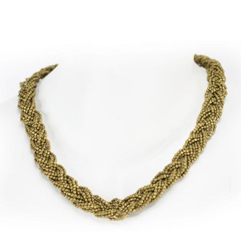 Braided Brass Necklace